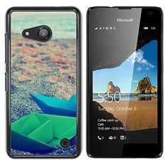 Planetar ( Paper Boats Origami ) NOKIA Lumia 550 Colorful Printed Hard Protective Back Case Cover Shell Skin * Visit the image link more details.