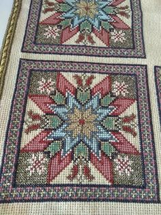 Cross Stitch Designs, Cross Stitch Patterns, Cross Stitching, Cross Stitch Embroidery, Palestinian Embroidery, Square Patterns, Cross Stitch Flowers, Rugs On Carpet, Embroidery Designs