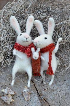 Bunny Sweet Family  SPRING SPECIAL easter por feltingdreams en Etsy