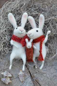 Bunny Sweet Family  SPRING SPECIAL easter by feltingdreams on Etsy, $220.00