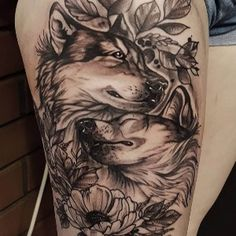 50 Of The Most Beautiful Wolf Tattoo Designs The Internet Has Ever Seen - Tattoos & Piercings - Tattoo Designs For Women Wolf Tattoo Design, Tattoo Designs, Wolf Tattoos For Women, Sleeve Tattoos For Women, Tattoos For Guys, Wolf Sleeve, Wolf Tattoo Sleeve, Tattoo Wolf, Tattoo Sleeves