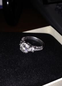Beautiful, Sparkly Platinum Tacori total carat weight Over 30 round brilliant cut diamonds total in the band alone! Engagement Ring Buying Guide, Engagement Rings Cushion, Round Diamond Engagement Rings, Platinum Diamond Rings, Diamond Cuts, Rings N Things, Round Diamonds, Wedding Stuff, Dream Wedding