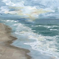 Where the Waves Meet the Sand by Marsh Scott: Acrylic Painting available at www.artfulhome.com