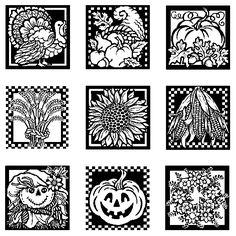 Inkadinkado-Inchie Bundle Stamps-Fall D�cor