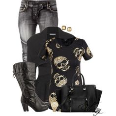 Tall Boots & A Cardigan, created by wuzzyswardrobe on Polyvore