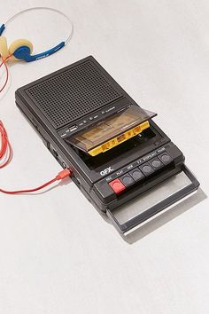 Slide View: Retro Shoebox Cassette Tape Recorder + USB Player- Urban Outfitters—reminds me of 13 Reasons Why Cassette Recorder, Tape Recorder, Cassette Tape Art, Vintage Design, Retro Vintage, Vintage Stuff, Vintage Trends, Vintage Music, Modern Retro
