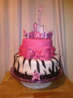 star birthday cakes for girls | rockstar birthday cake this was a rock star birthday party theme for a ...