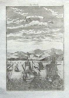 LA RACHE by Alain Manesson Mallet Published Frankfurt 1719 in Beschreibung des ganzen Welt Kreises a German translation of Mallet s Description de L