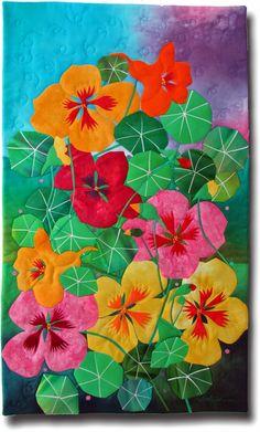 Melody Johnson inspired by garden nasturtiums.