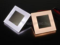 Kanlux Apus LED lámpa - dekorációs világításhoz és lépcsővilágításhoz is használható!   Melegfehér és hidegfehér fénnyel is elérhető.   Kis beépítési mélység, 230V működési feszültség.