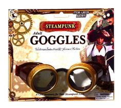 Forum Novelties Steampunk Costume Goggles Brown One Size -- BEST VALUE BUY on Amazon-affiliate link