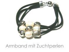 Armband Leder schwarz von DeineSchmuckFreundin - Schmuck und Accessoires auf DaWanda.com