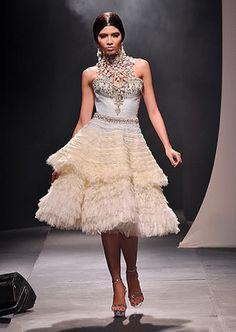 wedding dress by Dubai-based Filipino designer Michael Cinco.