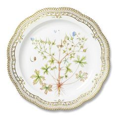 Porcelain Round Dish Flora Danica Royal Copenhagen