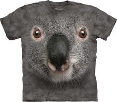 Grey Koala Shirt Tie Dye Face Portrait T Shirt | eBay $17.99