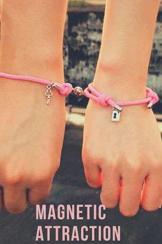 Express your Strength & Love with these Magnetic Braid Bracelets #bracelets #padlockkeymagneticattractionbracelet #magneticattractionbracelet #valentinesgifts #braceletsforcouples Couple Bracelets, Braided Bracelets, True Love, Attraction, Magnets, Best Gifts, Strength, Key, Trends