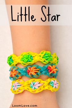 Rainbow Loom Instructions for the Little Star Bracelet