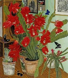Adolf Dietrich. Cactus In Interior, 1936.