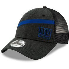 Men s New York Giants New Era Heathered Black Black Label Scale Trucker  9FORTY Snapback Adjustable Hat 671f9068552b