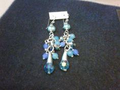 Zarcillos de cristales y perlas