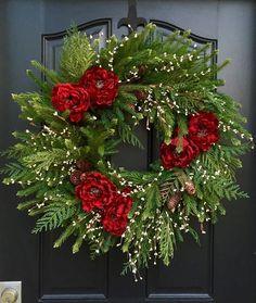 Artificial Christmas Wreath Artificial Pine by twoinspireyou