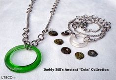 Ancient Coin Necklace. Available in a variety of colors and styles.