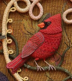 Birds of Beebe Woods - Cardinals by Salley Mavor of Wee Folk Studio