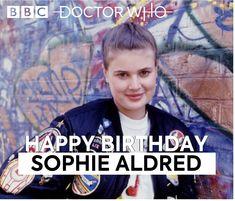 Happy Birthday, Sophie Aldred Doctor Who, Happy Birthday, Fictional Characters, Happy Brithday, Urari La Multi Ani, Happy Birthday Funny, Fantasy Characters, Happy B Day, Happy Birth