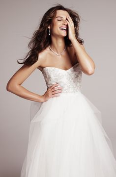 Roses by Reem Acra gown #Nordstrom #weddings