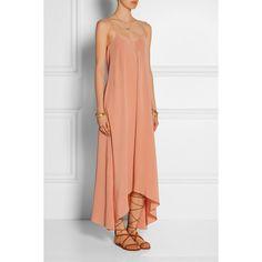 Tibi Asymmetric silk dress (2.360 BRL) ❤ liked on Polyvore featuring dresses, asymmetrical dress, tibi, high low silk dress, asymmetrical hem dress and short in front long in back dress
