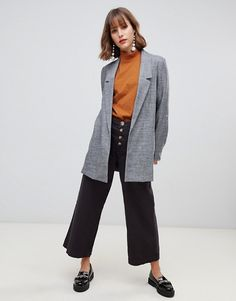 Stradivarius edge to edge turn up sleeve blazer at ASOS. Shop this season's must haves with multiple delivery and return options (Ts&Cs apply). Turn Up, Wardrobe Staples, Fashion Online, Latest Trends, Asos, Normcore, Style Inspiration, Sleeves, Stuff To Buy