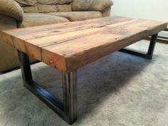 Beautiful Reclaimed Industrial Douglas Fir Coffee Table By ChardinWoodworks, $800.00