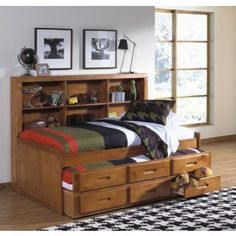 Oak Furniture West Ponderosa Twin Day Bed at Big Sandy Superstore
