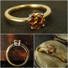 """We have set this mesmerising #vintage .81ct fancy orange #diamond in a contemporary ring mount of our own design. The vibrant stone is brilliant cut, held in a simple four-claw setting that allows light to flood in, illuminating the stone. The plain band features pinched shoulders, and is crafted from recycled 18ct yellow gold - the head is modelled in platinum. The diamond is GIA certified as """"Fancy Deep Yellowish Orange"""" in colour. DM or email for more details :) #butterlaneantiques…"""