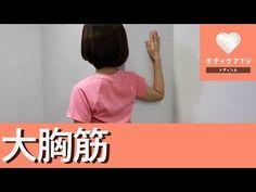 【動画】大胸筋を伸ばす簡単ストレッチ | ヘルスケア・スキンケア情報サイト