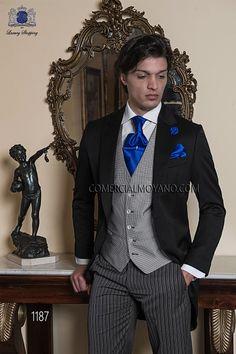 Ottavio Nuccio Gala 2015 Gentleman Collection | Traje de novio italiano chaqué negro 1187 Ottavio Nuccio Gala