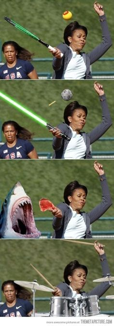 Photoshop level: Michelle Obama...