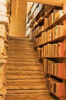 my dream is to have a rustic little warm house, with a little home libary...that would be nice