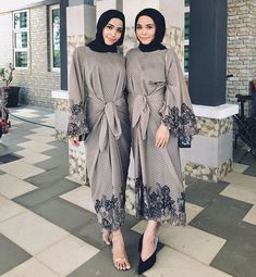 Untitled Kebaya Modern Hijab, Modern Hijab Fashion, Muslim Women Fashion, Batik Fashion, Hijab Fashion Inspiration, Abaya Fashion, Fashion Dresses, Dress Brukat, Batik Dress