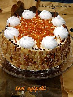 Tort egipski Cake, Kuchen, Torte, Cookies, Cheeseburger Paradise Pie, Tart, Pastries