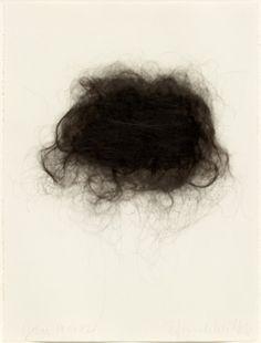 HANNAH WILKE  -  1992 - Artist's hair on paper