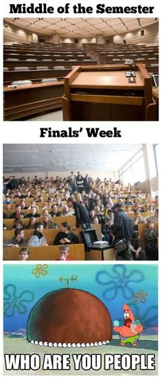 College during finals
