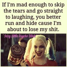 Joker Quotes : 23 Joker quotes that will make you love him more 35 best Harley Quinn Suicide Sq… – Humor bilder Bitch Quotes, Joker Quotes, Badass Quotes, True Quotes, Funny Quotes, Psycho Quotes, Gangsta Quotes, Sassy Quotes, Sarcastic Quotes