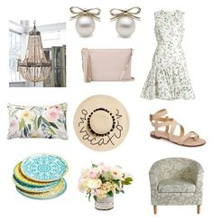 """Set 1...May 30th."" by liz957 ❤ liked on Polyvore featuring Giambattista Valli, Yves Saint Laurent, August Hat, Splendid, Mudhut, Regina Andrew Design, outfit, set, bestofpolyvore and polyvorefashion"