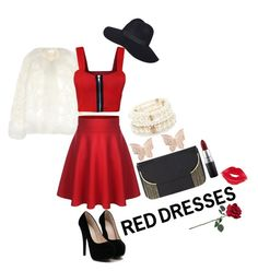 """Hot Red Dress For Valentine's Day"" by urbancleo ❤ liked on Polyvore featuring Forever 21, Chloé, WearAll, BCBGMAXAZRIA, Latelita, MAC Cosmetics, Manic Panic, women's clothing, women and female"