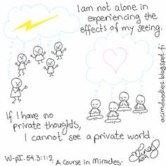 ACIM-doodles: What You Think is What I Think