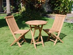 Conjunto de madera de teca, mesa octogonal. www.actuadecor.com
