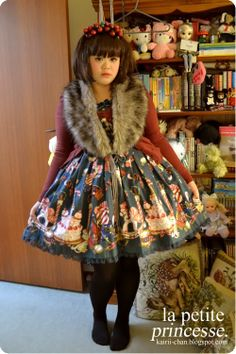 I adore this classic coord Kairii came up with using a sweet print from Angelic Pretty.