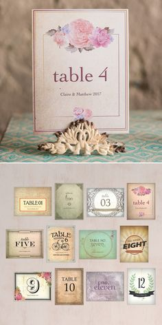 Vintage Medley Table Number Set - one of our best sellers!