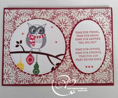 I was having a Christmas Card marathon and then my Stampin' Up! order arrived. Happy Day! Along with goodies for the girls, I ordered the Stitched from the Heart Framelits., our November S…